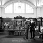 Waiting for the bride to arrive at Council Chambers Islington Town Hall