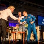 Sir Richard Branson greets Tim Peake